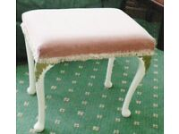 VINTAGE BEDROOM DRESSING TABLE STOOL. PINK.