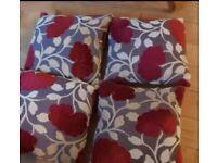 4 x Cushions ( floral )