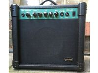 Stagg 15GADR 15w Guitar Amp with Overdrive, EQ & Reverb in black