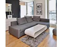 Ikea Corner Sofa-Bed Grey colour with Storage-IKEA Farihiten. good condition Stain & Pet free