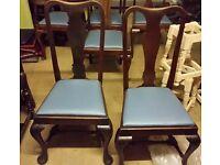 2 x Quinn Ann Wooden legs chairs