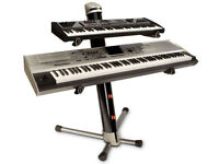 Ultimate Apex AX-90P Column Keyboard Stand + Gig Bag + Box / Pewter