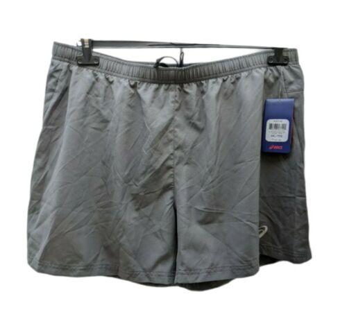 asics men's woven short 5 inches gray 2XL