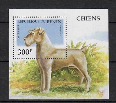 (W1242) BENIN, 1995, DOGS, BL. 12, MNH/UM, SEE SCAN
