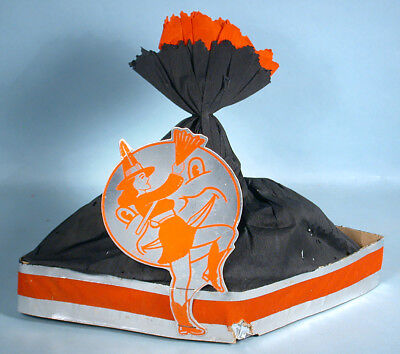 1950s Halloween Glamour Pin-Up Girl Crepe Die-cut Party Hat Witch & Full Moon (1950s Halloween Party)