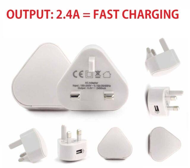 2.4A USB Mains Charger,Wall Plug for MS Lumia 950/950XL/Huawei Nexus 6P/ ZUK Z1