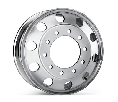 22.5 x 8.25 Aluminum HD Truck Trailer Wheel Rims Hub Alcoa Style Dually 10 Lug ()