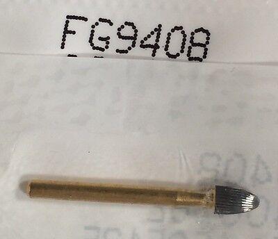 Tf 10 Burs 9408 Egg Shape Fine Polishing 30-blade Goldcarbides Made In Canada