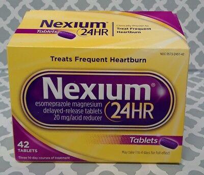 Nexium 24 HR 42 Tablets NEW exp:12/2021+