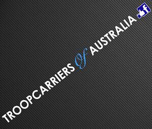 Troopcarriers of Australia Windscreen Decal, Marine Quality Cast Vinyl Sticker
