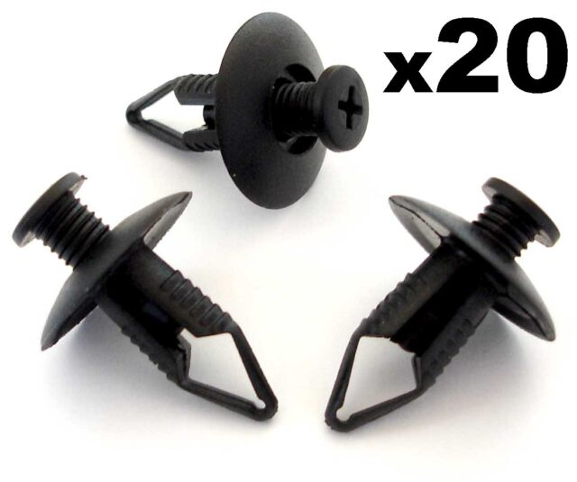 20x 8mm Ford Bumper, Wheel Arch Lining, Undertray Trim Panel Retainer Clips