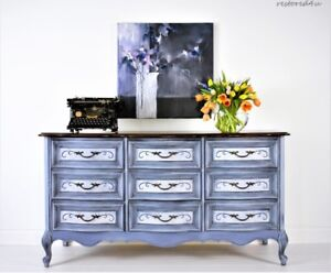 Refinished 9 drawer French Country dresser