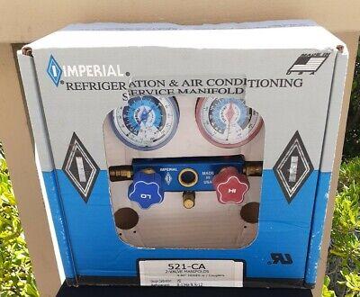 Imperial 2 Valve Refrigeration Air Conditioning Service Manifold 521ca