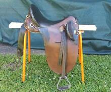 """18"""" Australian Stock Saddle Used Fully Mounted Bateau Bay Wyong Area Preview"""