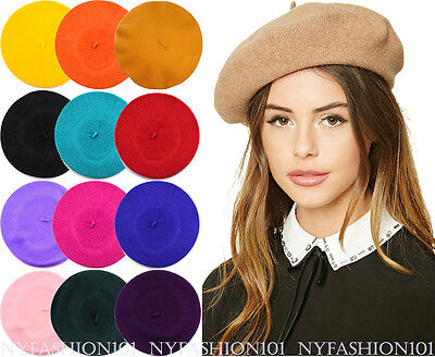 Casual Style Solid Color (NYFASHION101® French Style Lightweight Casual Classic Solid Color Wool Beret )