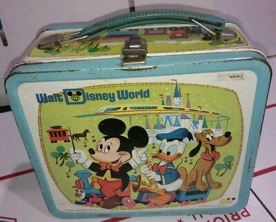 WALT DISNEY WORLD 1976 METAL LUNCHBOX & MICKEY MOUSE CLUB 1963 METAL LUNCHBOX