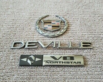 2000-2005 Cadillac Deville Rear Trunk Decklid Emblem Badge Logo OEM