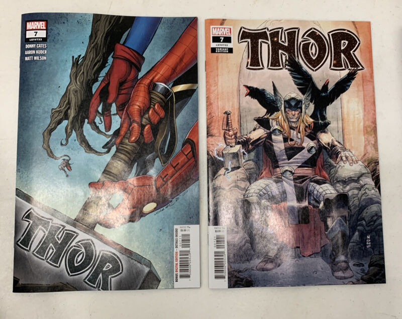 THOR #7 NM Main Cover + Klein Variant Set Donny Cates 9/16 2020