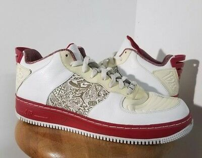 038ae2ff8ce9 Nike Air jordan air force Ajf 20 Low (332122 101) White Red Size 13