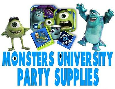 DISNEY'S Monsters University Party Supplies/Favors: Cups/Napkins/Masks/Balloons ()