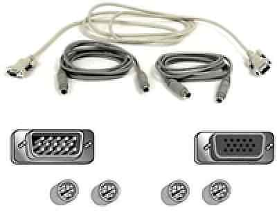 Belkin 6FT AT KVM Cable Kit for Omniview SE with AT to PS2 Convertor (Omniview Kvm Cable Kit)