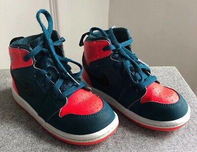 Nike Jordan 1 Retro High Toddler 705304-312 Teal Infrared White Shoes Toddler 8C