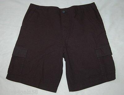 Leg Pockets Mens Shorts (MENS SHORTS Open Trails UTILITY Long BLACK Front Rear Leg Pockets)