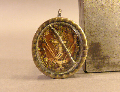 Fine and Blessed TRUE CROSS Relic in Antique Holy Reliquary 1600s INRI CRUCIS