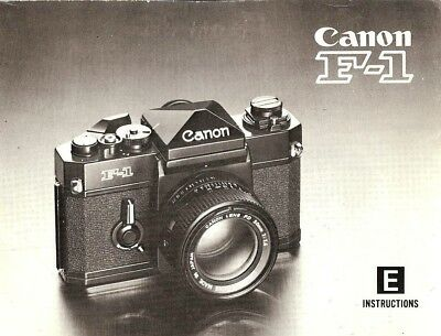 (CANON F-1 SLR 35mm CAMERA OWNERS INSTRUCTION MANUAL--CANON F1--from 1970s)