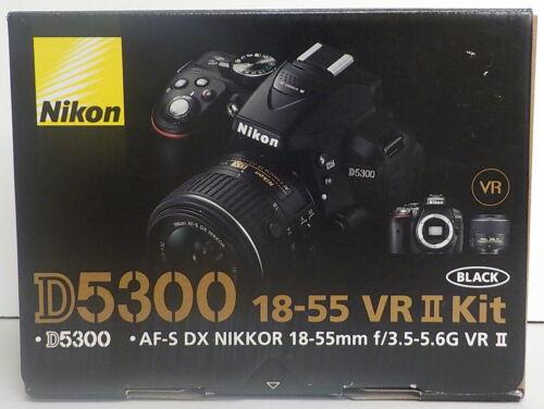Nikon D5300 DSLR Camera with 18-55mm VR Lens Black 1522