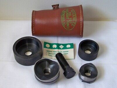 Greenlee No.730737 Size 2-14 1-34 Round Radio Chassis Punches Wpouch Euc