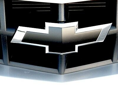 2 Chevy Bowtie Emblem Overlay Insert Front/Back Vinyl Decal Wrap Custom Full Kit