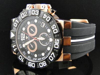 Herren Aqua Master Jojo Jojino Joe Rodeo Rose Schwarz Gummiarmband 47 mm Uhr Mit (Jojino Uhren)