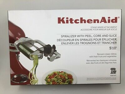 KitchenAid KSM1APC 5-Blade Spiralizer with Peel, Core & Slice Free Shipping