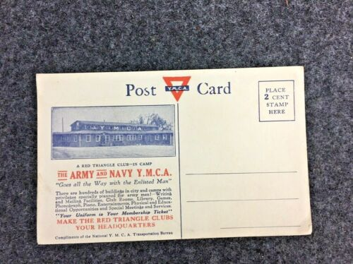 Y.M.C.A. Postcard for the Army and Navy Unused