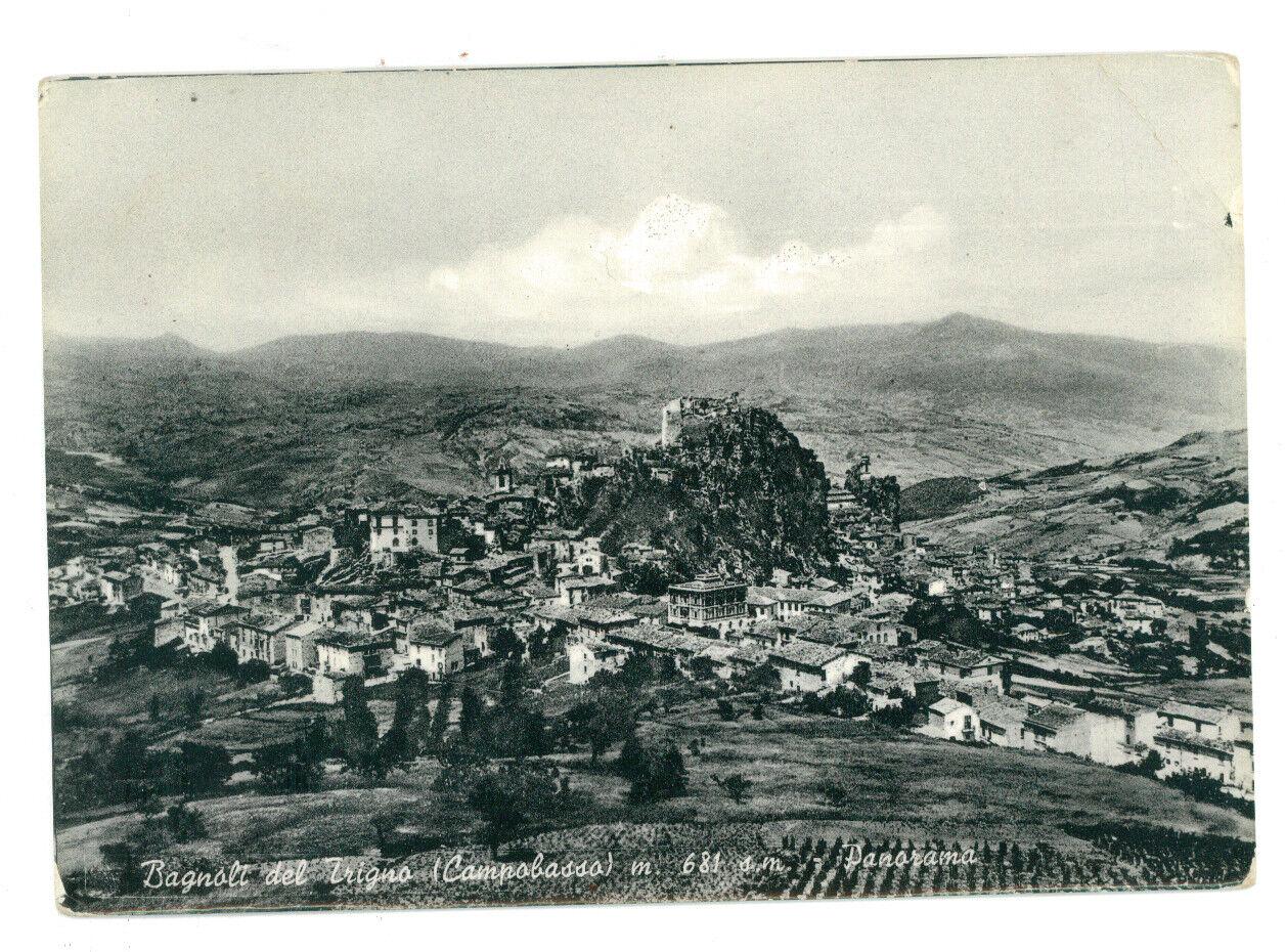 BAGNOLI DEL TRIGNO PANORAMA CAMPOBASSO MOLISE VIAGGIATA 1954