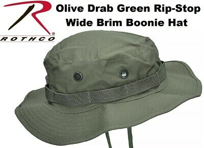 Olive Drab Green Military Tactical Rip-Stop Wide Brim Bucket Boonie Hat 5823 Boonie Hat Olive