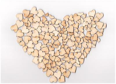 Mini Wooden Hearts MIX Embelishments 150-160pcs Small Hearts Wooden Shapes (WX88