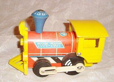 Jouet Ancien Fisher-Price vintage locomotive TOOT-TOOT 1964 (10x16cm)