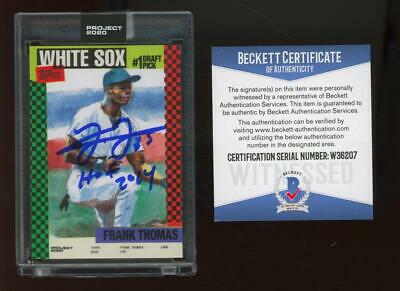 2020 Topps Project #44 Frank Thomas Jacob Rochester 5/5 Auto RC BGS/BAS Beckett