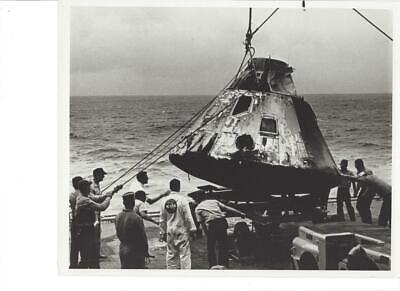 NASA ORIGINAL APOLLO 4&14 8X10 B&W PHOTO's(6) CAPSULE RECOVERY, 1 Shepard family