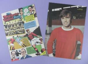 The Manchester United Story - 6 Sided Vintage Article & George Best Picture