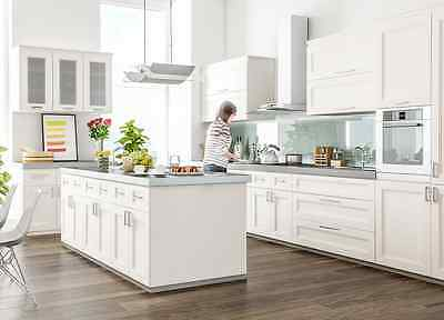Fully Assembled - All Wood 10X10 Transitional Kitchen Cabinets in Fashion White