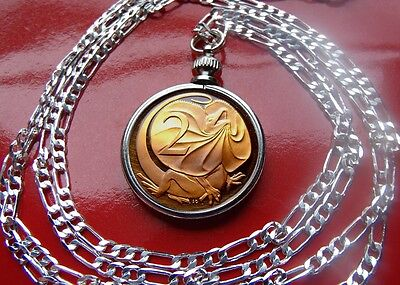 Australia Proof Frilled Neck Lizard Coin Pendant on a 18