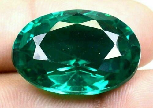 49.00Ct Colombian Natural Green Emerald Oval Cut Certified Loose Gemstone GO0296