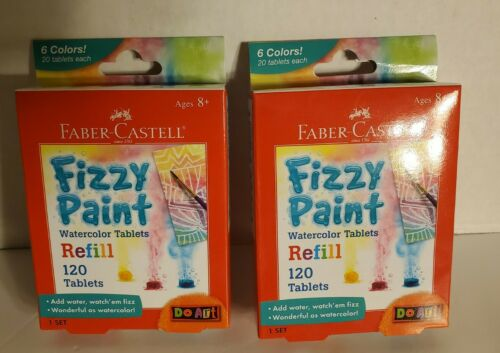 FABER-CASTELL FIZZY PAINT WATERCOLOR TABLETS REFILL LOT OF 2