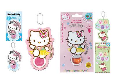 Hello Kitty Lufterfrischer (Kit 6 Deodoranti Profumatore Hello Kitty Air freshener (ciliegie, fragola, zu...)