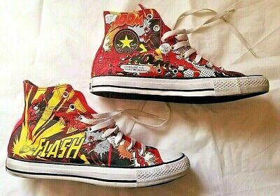 CONVERSE ALL STAR FLASH DC COMICS SUPERHERO HI TOP SHOES MEN SIZE 10 (WOMEN 12)](Converse Super Hero)