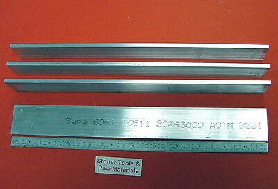 4 Pieces 316 X 1-12 Aluminum 6061 Flat Bar 12 Long T6511 .187 Mill Stock
