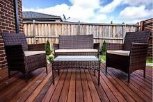 4 Pieces Outdoor Wicker Rattan Table Chair Set Garden Furniture Sunshine West Brimbank Area Preview